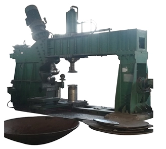 hydraulic 6 meters head dished end spinning flanging machine for sale (图2)